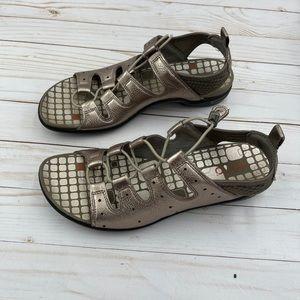 Ecco Womens 9/9.5 40 Toggle Metallic Sandals